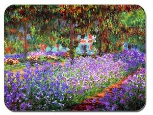 Claude Monet, Il giardino a Giverny Tappetino per Mouse. Stampa artistica di alta qualità Mouse