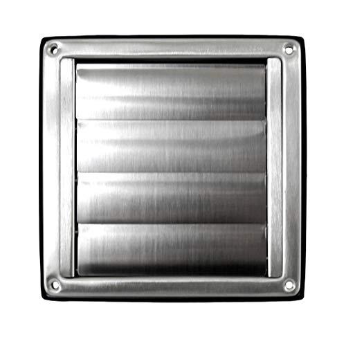 Klimapartner VKE 150 - Rejilla de Ventilación Aire Externo de Acero Inoxidable del Louvre Láminas