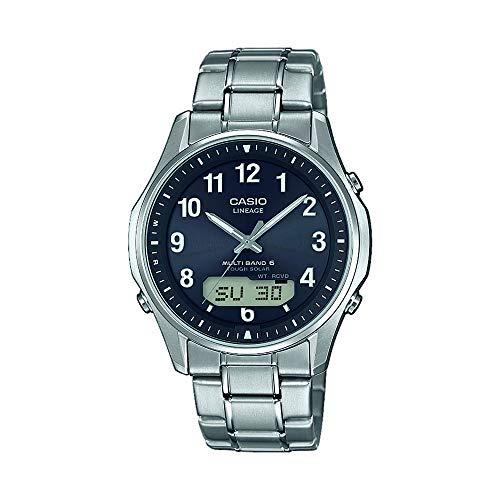 Casio Wave Ceptor Herren Armbanduhr LCW-M100TSE-1A2ER, Solar und Funkuhr, schwarz blau, Saphirglas, massives Titangehäuse und Titanarmband