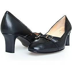 Dr. Scholl BEGORGEOUS F229701004 Damen Pumps Damenschuhe EU 35, UK 2.5 Leder Schwarz Black