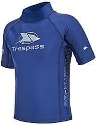 Trespass - Camiseta de manga corta para natación modelo Alva para niños