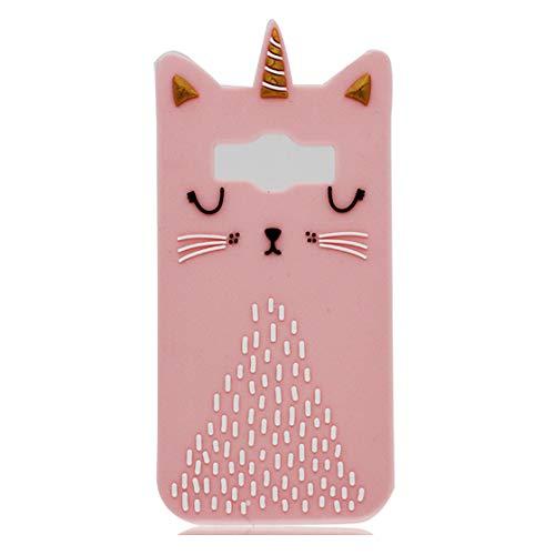 Samsung Galaxy Core Prime G360 Coque Protecteur antichoc flexible de CASE de téléphone de cover de gel de souple mince étui pour Samsung Galaxy Core Prime G360 ( 3D Cartoon mignon chat licorne )