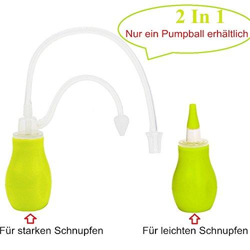 Baby Nasensekretsauger mit Medizin Pipette– IntiPal 2 in 1 Nasensauger Medizin-Pipette Pflegeset für Babys und kleine Kinder (Grün) - 2