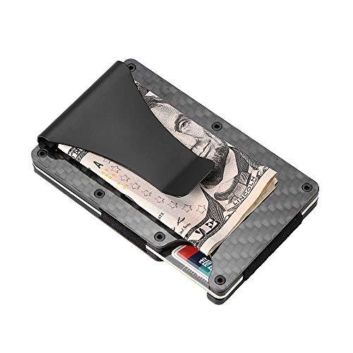 onever Aluminium Metall Wallet, Slim Business Card Holder RFID-blockierender minimalistischen Wallet, Geldbörse, Tasche Geld Clip