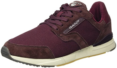 GANT FOOTWEAR Herren Apollo Sneaker, Rot (Wine Red), 43 EU