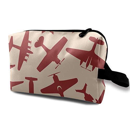 Voler avions rouges motif petits sacs à cosmétiques voyage sac de maquillage organisateur à la mode