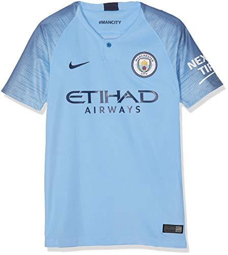 35866dd6d7355 Nike Kinder Manchester City FC Stadium Jersey Short-Sleeve Home Trikot  Field Blue Midnight
