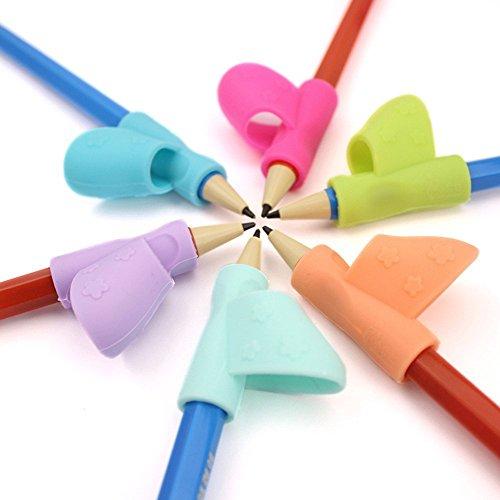 Paquete de 6 herramientas de corrección de postura para escribir para niños, color multicolor