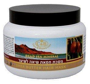 C & B Mer Morte Masque capillaire au beurre de karité 250 ml/238,1 gram Traitement Soin Spa Israël minéral