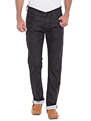 Spykar Mens Black Narrow Fit Low Rise Jeans (Rover) (30)