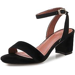 Mode Sandalen/ weibliche grobe Sandalen im Sommer/ wie schön die Füße mit römischen Sandalen sind/Ein Wort mit einem hohlen offenen Sandalen-A Fußlänge=24.3CM(9.6Inch)