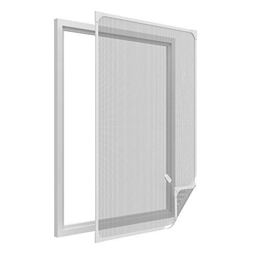 Insektenschutz-Fenster - 120x140 cm - Fliegengitter mit Magnetrahmen - Magnetischer Mückenschutz