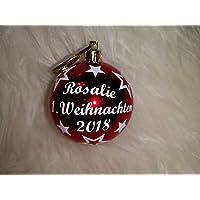 Weihnachtskugel mit Namen 1. Weihnachten 2018 mit der Wunschfarbe