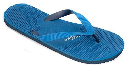 AQUA-SPEED® PALERMO Infradito (40-46 Uomo Spiaggia) Farbe 10 / Navy-Blau