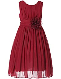 db56fc6e2 Amazon.co.uk  Red - Dresses   Girls  Clothing