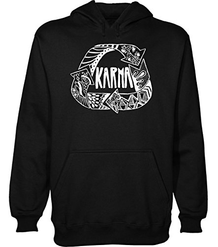 Karma Finds You Men's Hoodie Pullover Large