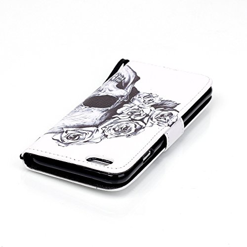 MOONCASE Étui pour iPhone 6 / 6S (4.7 inch) Printing Series Coque en Cuir Portefeuille Housse de Protection à rabat Case YB08 YB05 #0305