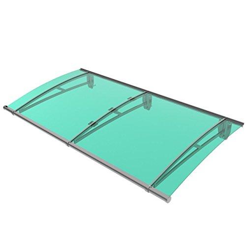Homelux DCY190.gruen Vordach, formschöne Konstruktion aus Aluminium und Kunststoff, 190 x 95 cm