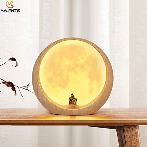 Roman Led Mond Lampe Tischleuchte Usb Lade Touch Switch Moonlight Schreibtischlampe Schlafzimmer Nachttischlampe Wohnkultur Leuchten, A