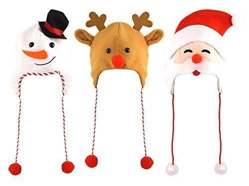 3 Assorted Erwachsenen-weihnachten Hüte Eine Packung mit Jedem -
