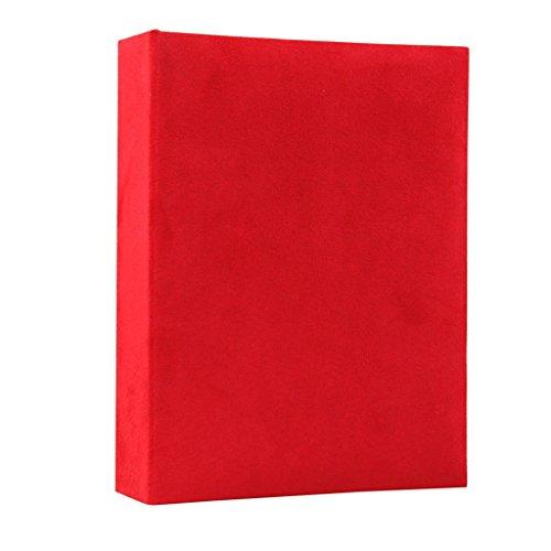 FOOHAO- Album de famille de tissu de style simple, Album interstitiel de croissance de bébé, 200 photos -6 '' (photo 6x4 '') (Couleur : Rouge)