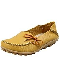 Vogstyle Damen Casual Slipper Flatschuhe Low-top Schuhe Erbsenschuhe