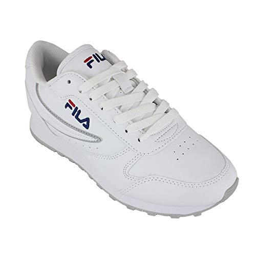 Fila Orbit Low Wmn, Zapatillas para Mujer, Blanco White 1010308-1fg, 40 EU