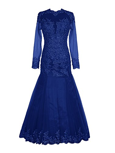 Robe de soiree longue bleu amazon