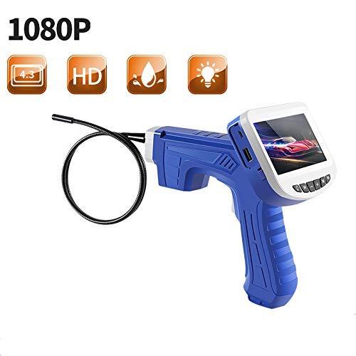 Portátil Endoscopio Industrial Full HD 1080P 2.0MP, Impermeable IP67 Cámara De Inspección con Pantalla LCD A Color De 4.3 Pulgadas, con 6 LED Luces Fauay