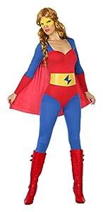 Atosa- Disfraz Mujer Super héroe Comic, Color Rojo y Azul, M-L (18087)