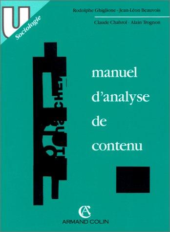 MANUEL D'ANALYSE DE CONTENU