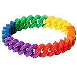 TRIXES Braccialetto arcobaleno intrecciato in silicone accessorio per orgoglio