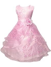 Free Fisher Kinder Mädchen Prinzessin-Kleid mit Stickerei