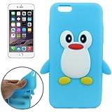 Coque silicone cartoon Pingouin bleu pour iphone 6 et 6S