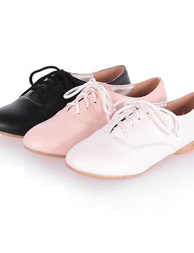 ZQ Scarpe Donna - Stringate - Formale / Casual - Comoda / Punta arrotondata - Piatto - Finta pelle - Nero / Rosa / Bianco , pink-us8 / eu39 / uk6 / cn39 , pink-us8 / eu39 / uk6 / cn39 black-us7.5 / eu38 / uk5.5 / cn38