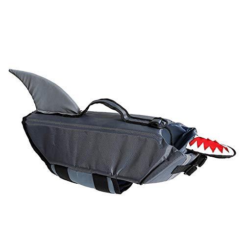 (CONGMING Haustier Regenjacken Haustier Winterjacken Mäntel Haustier Hunde Regenmantel Haustier Bekleidung- Reflektierendes Sicheres Schwimmen (Farbe : Grey Shark, größe : L))