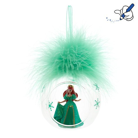 Ariel Plume Christbaumkugel, Disneyland Paris, offizielles Disney Weihnachten Ornament