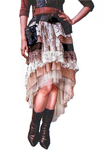 Dark Dreams Gothic Steampunk Vintage Rock Skirt 2-teilig RQ BL 36 38 (Elemente Natur Der Kostüme)