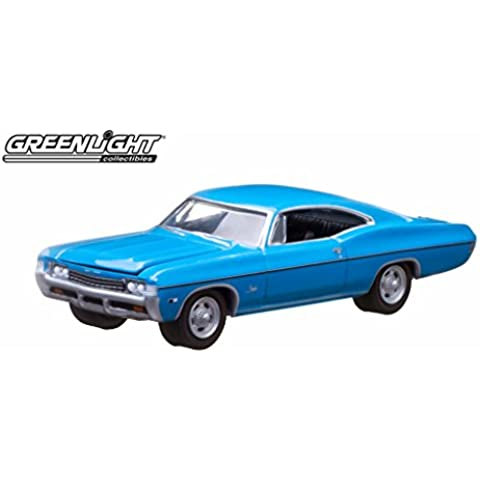 Greenlight 10th Anniversary Edition: 1968 Chevy Impala SS 1:64 Scale (Blue) by GL Muscle