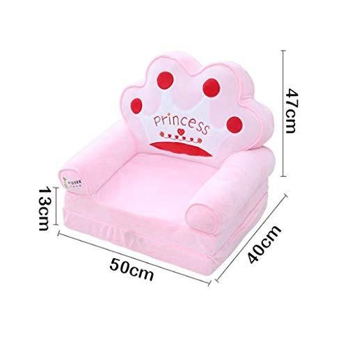 MAGO Kinder faul Sofa Plüsch Sofa Sitz Kindergarten Cartoon Sofa Spielzeug zu senden Kinder Geburtstagsgeschenke (Form : Crown)