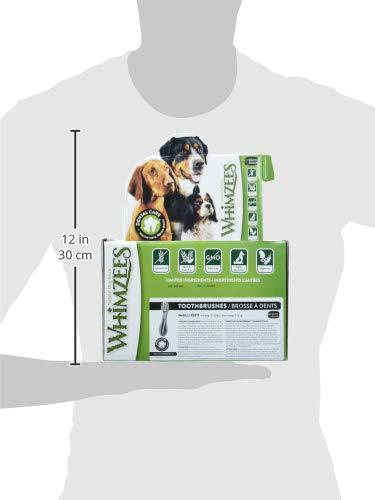Whimzees Zahnbürste Hundekausnack S | 150 St. Sparpackung kleine Hunde - 3