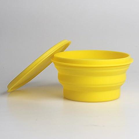 Wwin 830ml Silikon Faltung Travel Bowl setzt Wasser & Food