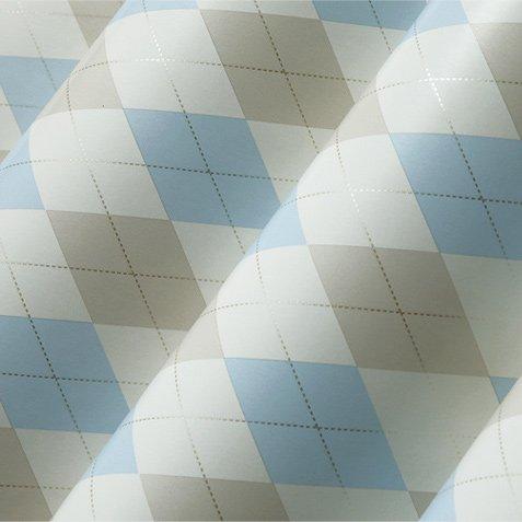 yeeart Reine Papiertapete Landhausstil geometrische Karotapete Tapete modernes Design Esszimmer Schlafzimmer Tapete Wand Rolle 5,3m2 hellblau