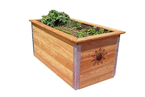 bio-garten Hochbeet aus Lärchenholz klein/Komplett Paket / 80 x 160 cm, Höhe 84 cm/Leichter Aufbau - TOP Qualität