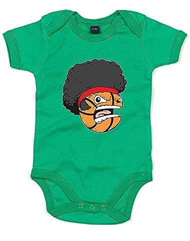Basket Head, Imprimé bébé grandir - Vert/Transfert 12-18 Mois