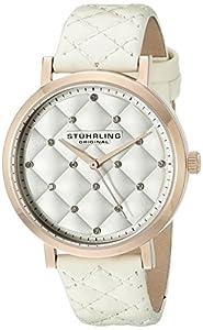 Stuhrling Original Audrey - Reloj de Cuarzo, Mujer de con Correa de Cuero, Color Blanco de Stuhrling Original
