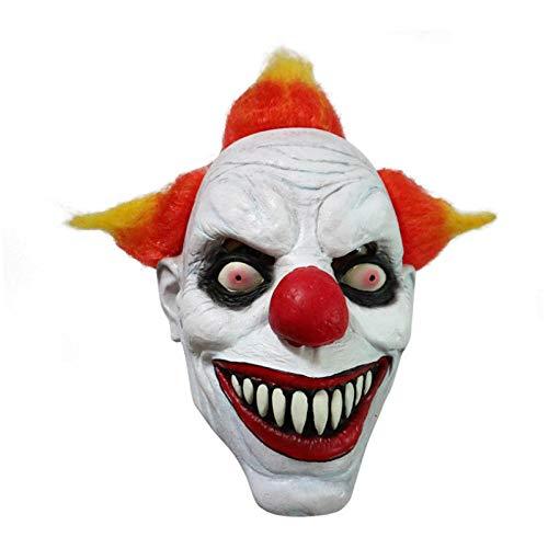 Mörder Clown Für Kostüm Erwachsene - qiaoaoa Lustige Böse Erwachsene Latex Haar Mörder Joker Clown Kostüm Maske Geisterkarneval Party Cosplay Maske Dekorationen Zubehör