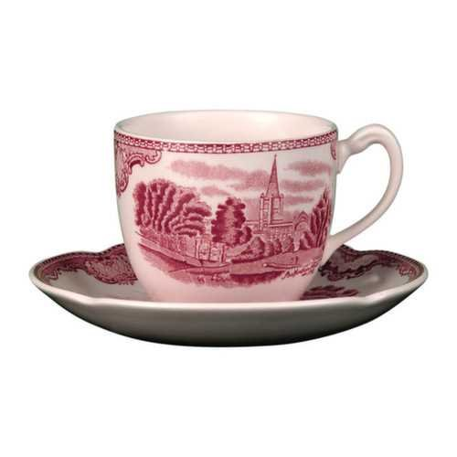 Johnson Bros. Old Britain Castles Pink Saucers Only by Johnson Brothers Johnson Bros Old Britain Castles