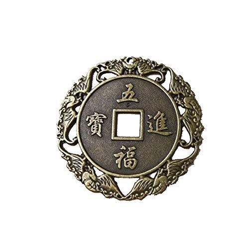 6.8Cm Legierung Geschenke Antikes Geld Drachen Und Phoenix Metallhandwerk,Als Zeigen,Einheitsgröße ()