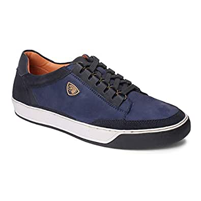 Red Chief Men Blue Leather Sneaker Shoes RC3580 002